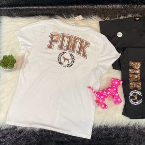 VS PINK gold sequin top